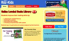 Raz-Kids: Guided reading program website Everyone loves Raz-Kids. Excellent on-line books assigned by the teacher to improve reading skills. Improve Reading Skills, Reading Strategies, Reading Fluency, Guided Reading, Classroom Resources, Teacher Resources, Raz Kids, Student Login, Leveled Books