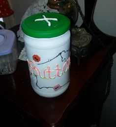 button jar by ninasoriginals on Etsy