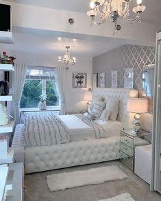 Girl Bedroom Designs, Room Ideas Bedroom, Home Decor Bedroom, Aesthetic Room Decor, Stylish Bedroom, Cozy Room, Dream Rooms, Luxurious Bedrooms, My New Room
