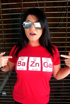 BaZnGa T-Shirt Funny Science Chemistry Big Bang Geekery Geek Penny Nerd Gift Humor T-Shirt Tee Shirt Tshirt Mens Womens Kids S-3XL on Etsy, $14.95