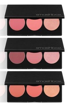 Crushing on these essential blush and highlighter palettes by Smashbox!