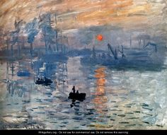 Impression Sunrise - Claude Oscar Monet - WikiGallery.org, the largest gallery in the world