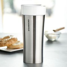 I'm not the biggest fan of Starbucks coffee, but their travel mugs are always functional and well-designed. I love this one, which features a stainless steel exterior and a ceramic interior. It's a must-have for tea-sippers on the go. Starbucks Coffee Tumbler, Secret Starbucks Drinks, Coffee Cup, Coffee Coupons, Wholesale Coffee, Best Coffee Grinder, Coffee Supplies, Discount Coffee, How To Order Coffee