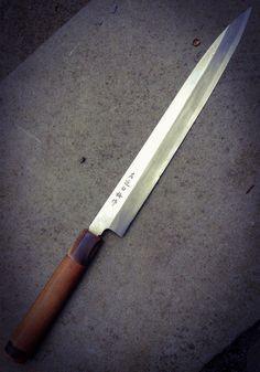 Vintage Japanese Sashimi Knife by BorisGarage on Etsy