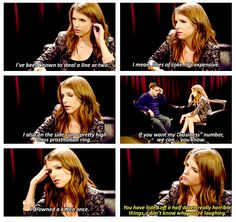 anna kendrick- she is hilarious!
