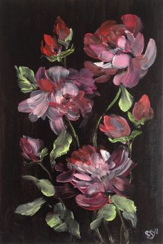 Excited to share the latest addition to my #etsy shop: Abstract Flowers in Black and Pink ,Oil Painting, Original Artwork, Contemporary Art, Wall Decoration, Home Decoration, Original Painting https://etsy.me/2IxGdCE #art #painting #pink #black #originalpainting #artwo