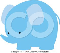 Royalty-Free Vector Clip Art Illustration of a Cute Blue Elephant by designbella