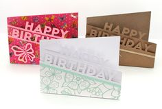 Happy Birthday Edge Cards with cut file