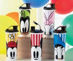 #Disney #Tupperware Tumblers - set of 5. How cute are those eyes peeking at you??