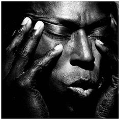 Character study // Miles Davis photographed by Irving Penn