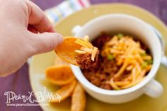 Perfect chili with corn chips for fall cooking