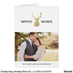 Holiday Stag | Holiday Photo Greeting Card