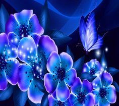 blue  abstract Butterfly Wallpaper | ... wallpapers to your cell phone - abstract flowers blue butterfly