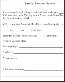 Family Reunion Registration Form Template  Family Reunion