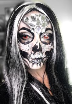 #halloween #mariadolores #makeup #glam #skull #fashion #costume #skelleton