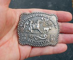 Belt Buckle Hesston Rodeo 1985 National Finals Rodeo Showing