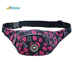 TOPUP Women Fashionable Floral Printed Outdoor Hiking Waist Pack Fanny Packs * Want additional info? Click on the image.