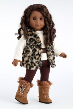 Wild Cat - American Girl Doll Vest, Winter Snow Outfit, Pants, Blouse, Boots | eBay