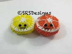 Orange/Lime/Lemon/Kiwi Tutorial Rainbow Loom Loomigurumi/Amigurumi Hook Only Copyright at SRSDesigns, This material may not be published, broadcast, rewritte. Rainbow Loom Tutorials, Rainbow Loom Creations, Rubber Band Crafts, Rubber Bands, Rainbow Loom Storage, Crafts To Do, Arts And Crafts, Kiwi, Monster Tail