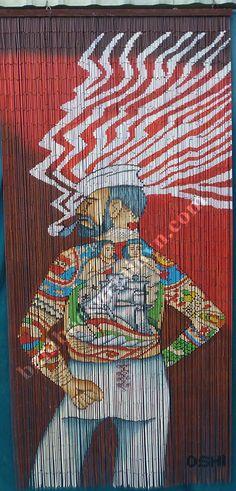 Beautiful high quality Rocco Bamboo door curtain & 2016 Hot Sale bamboo beaded painted door curtain cockatoo | bamboo ... Pezcame.Com