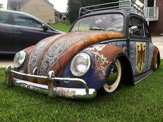 1964 vw beetle slammed lace rat