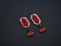 Ethnic Boho Earrings Colorful Festive Boho Chandeliers