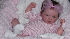 CUSTOM Reborn doll Berenguer PREEMIE BABY GIRL full limbs/mohair 15 inches