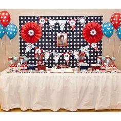 Choo Choo Train Birthday Party dessert table