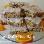 Orange Date Nut Bars