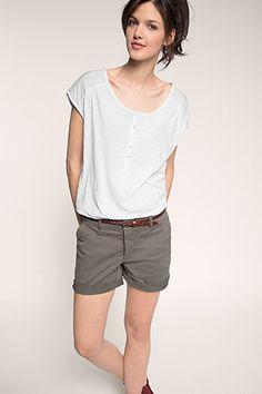 Esprit / Henley-Shirt aus 100% Baumwolle