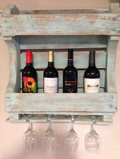 This beautiful handmade wine rack will look beautiful as an addition to a bar or kitchen, or even outdoors on the patio. The rack will hold