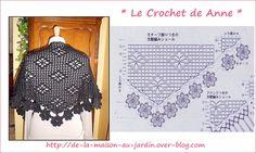 16 CAPAS PONCHOS MAÑANITAS PARA TEJER A CROCHET   Patrones Crochet, Manualidades y Reciclado