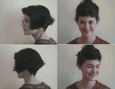Amelie Poulain Audrey Tautou Short bob with fringe! #WardrobeArchitect