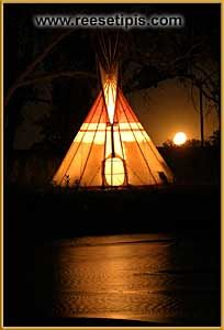 The Exterior of Todays Teepee, You can paint the outsides as you wish, or choose…