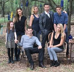 Joseph Morgan holds Summer Fontana's hand this behind-the-scenes family portrait for The Originals Season 4