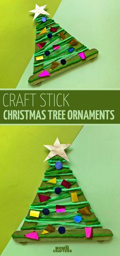 Click to make an easy DIY craft stick ornaments! This easy christmas craft for kids is fun for toddlers preschoolers. Credits: momsandcrafters.com