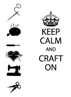 Crafty Jessica: Freebie Friday - Keep Calm and Craft On