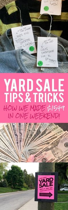Yard Sale Tips & Tricks: Click through to see how we made $1549 in one weekend!