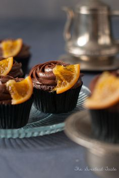 The Sweetest Taste: Cupcakes de chocolate y naranja confitada