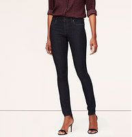 Curvy Skinny Jeans in Dark Rinse Wash... I like that these are a little higher in the waist but not in Mom territory.
