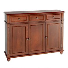 One of my favorite discoveries at ChristmasTreeShops.com: 3-Door Teak Wood Sideboard with Drawers