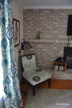 Cozy Family Room Makeover - Thrift Diving Blog - 8639