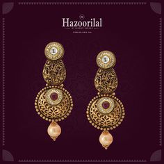 Wear these exquisite pair of earrings to the most special occasion in your life. Many such attractive designs await you at #HazoorilalJewellersGK