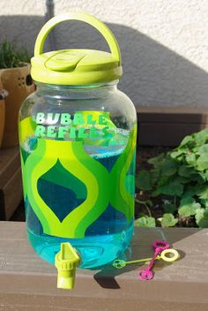 Bubble Refill Station ~ Moms Crafty Space
