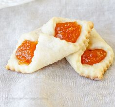 Traditional Hungarian Apricot Kolaches   My Hungarian husband's favorite Christmas Cookie recipe! He says they taste just like his grandma used to make!