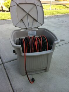 Extension cords organized