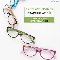Enjoy Better Discounts @Coolwinks Sale! Must Have Eyeglass Frames starting @ Rs.8, Lens Package starting @ Rs.590. Use CoolCash & Get Extra 25% OFF*. Shop Now.