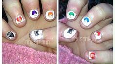 Nails Enkha: Nail Art One Directión 2Entrada en el blog-->http://nailenkha.blogspot.com.es/2015/01/nail-art-one-direction-2.html #onedirection #tatoos #black #red #1d #purple #orange #green #blue #rock #nails #notd #manicure #nailart #polish #nailspolish #nailartadict #cutepolish #cool #fashion #nailideas #manicura #esmalte #uñas #unhas #nailsporn