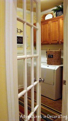 Cute Door into Laundry