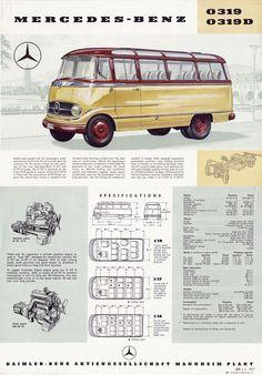 1957 Mercedes-Benz O319 Brochure Cover